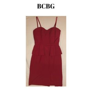 BCBG Red Cocktail Dress